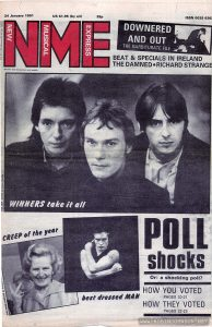"Cover of NME 24-1-1981, featuring The Jam.  Issue has a review of ""Times Square"" on pp 14-15."