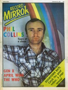 "Cover of Record Mirror, January 31, 1981, a UK music magazine containing an interview with Robin Johnson, during her publicity tour of the UK for ""Times Square"""