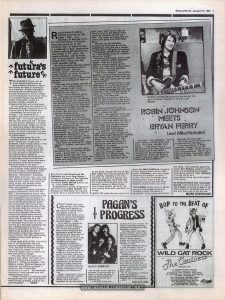 "Page 7 of Record Mirror, January 31, 1981, a UK music magazine containing an interview with Robin Johnson, during her publicity tour of the UK for ""Times Square"""