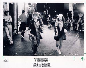 Robin Johnson and Trini Alvarado as Nicky and Pammy dance down 42nd Street