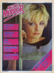 "Cover of Record Mirror, January 24, 1981 featuring Jane Kennaway, ""the voice of 1981"""