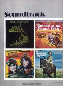Film soundtrack reviews by Terry O'Brien from Movie 81 No. 2, pp. 58-59