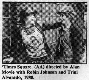 Photo illustrating Suffer the little children, part I (page 2), Time Out No. 567, February 25, 1981, p. 15  'Times Square. (AA) directed by Alan Moyle with Robin Johnson and Trini Alvarado, 1980.