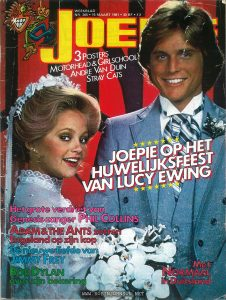 Cover of a Belgian entertainment magazine featuring article on Robin Johnson and TIMES SQUARE.