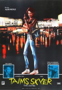 TIMES SQUARE movie poster, Yugolslavia, 1981 Text: Rȇžija: ALAN MOYLE TIM CURRY TRINI ALVARADO ROBIN JOHNSON AMERIČKI FILM kolor TAJMS SKVER TIMES SQUARE ZETA FILM ZF BUDVA EMI [Direction: ALAN MOYLE TIM CURRY TRINI ALVARADO ROBIN JOHNSON AMERICAN FILM color TAJMS SKVER TIMES SQUARE ZETA FILM ZF BUDVA EMI]