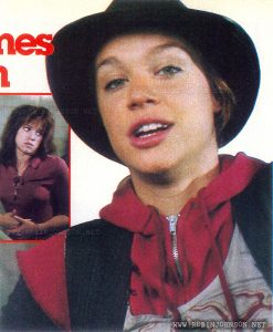 Photo of Robin Johnson from Australian Women's Weekly, Vol 48 No. 45, April 15, 1981, p. 119.  Caption:  Robin is almost as brash off-screen as she is on..