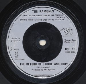 Side B of 45 RPM record RSO 70 (2090 512); UK single released on RSO Records to promote TIMES SQUARE and its soundtrack