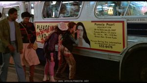 Nicky blacks out Pammy's eyes; Frame from TIMES SQUARE (1980)