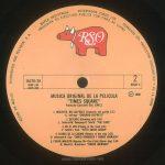 """TIMES SQUARE original soundtrack album, Mexico, 1981, side 4 label Text: HECHO EN MEXICO DISTRIBUIDO POR POLYDOR, S.A. MARCA REGISTRADA RESERVADOS TODOS LOS DERECHOS DEL PRODUCTOR FONOGRAFICO Y DE LA OBRA PROHIBIDA SU EJECUCION PUBLICA CON FINES DE LUCRO RSO 16370/2A 2658 145 2479 264 2 DISCO 2 ℗ 1980 MUSCIA ORIGINAL DE LA PELICULA """"TIMES SQUARE"""" Productor Ejecutivo: BILL OAKES 1. INOCENTE, NO CULPABLE (Innocent, not guilty) 2:13 -G. Jeffreys- *GARLAND JEFFREYS* 2. DENTENTE (Grinding halt) 2:49 -L. Tolhurst-M. Dempsey-R. Smith- *THE CURE* 3. EN EL RIO (Pissing in the river) 4:41 -P. Smith-I. Kral- *PATTI SMITH GROUP* 4. FLORES DE LA CIUDAD (Flowers in the city) 3:58 -D. Johansen-R. Guy- *DAVID JOHANSEN Y ROBIN JOHNSON* 5. PERRO MALDITO (Reprise-The Cleo Club) (Damn dog) 2:40 -B. Mernit-J. Brackman- *ROBIN JOHNSON*"""
