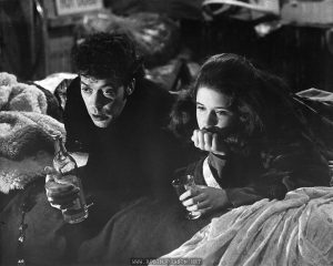 "26. Johnny LaGuardia (TIM CURRY) visits Pamela (TRINI ALVARADO) at the hideout. A scene from ""TIMES SQUARE"" distributed by COLUMBIA/EMI/WARNER Film Distributors."
