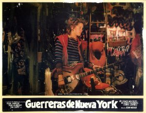 "Mexican lobby card for the film ""Guerreras de Nueva York,"" 1981 (""Times Square,"" 1980)"