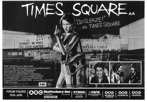 TIMES SQUARE movie advertisement, from Film Review Vol 31 No 2 February 1981, p. 10