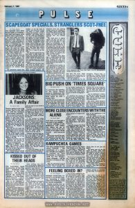 """Article on TIMES SQAURE (1980) from an Australian music newspaper weekly Relevant text: BIG PUSH ON 'TIMES SQUARE' By Brian Jones To promote the opening of the Times Square movie in Melbourne this week, PolyGram Records have come up with a unique idea. To take Time Square to the city square. Over the weekend they hired out the huge video screen at the Melbourne city square where excerpts of the movie were flashed with lots of plugs for the double soundtrack LP and other PolyGram product. If you caught the screening, you'd have noticed that JUKE Magazine got its whack of plugging as well. To celebrate the release of the movie, not to mention Roxy Music coming into Melbourne (certainly a big plus in their promotion as Roxy are featured on the soundtrack as well!) JUKE is this week giving away 12 copies of the soundtrack LP. Write to """"Times Square"""" com- petition, care of this magazine, and tell us three of the artists on the LP, with your name and address on the back of the envelope. And for Melbourne readers, the first 20 to waltz up to the Juke offices during business hours and ask for it gets a special colour poster. The movie, which premiers on Feb 5, is about two runaways who end up at Times Square in New York, and is produced by Robert Stigwood."""
