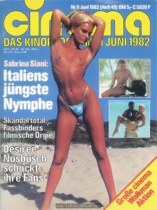 German film magazine containing article of TIMES SQUARE (1980)