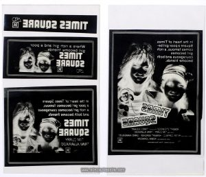 Negatives for four newspaper ads for TIMES SQUARE (1980)