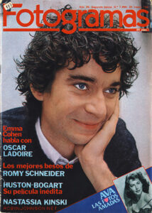 Cover of Fotogramas no. 1650; March 25, 1981; Periodical; 30.2 x 21.5 cm; a Spanish film magazine containing an article on TIMES SQUARE (1980)