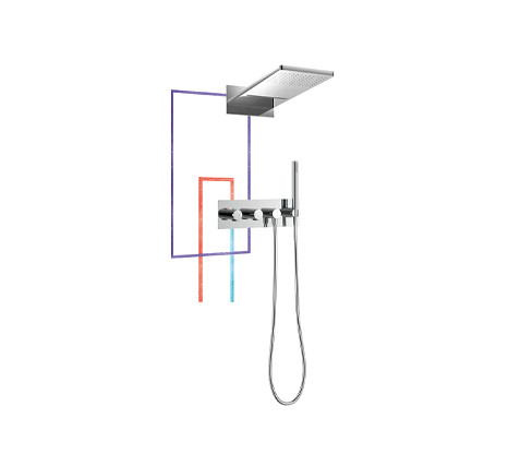 Thermostatic Concealed Shower Mixer (FH9980-672)