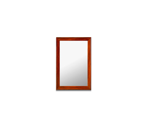 Framed mirror (With special wood finish aluminium profile) (800mm x 500mm)