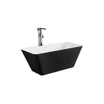 Solid surface free standing bath tub