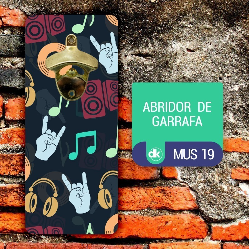 Abridor de Garrafas Dekorarte MUS19