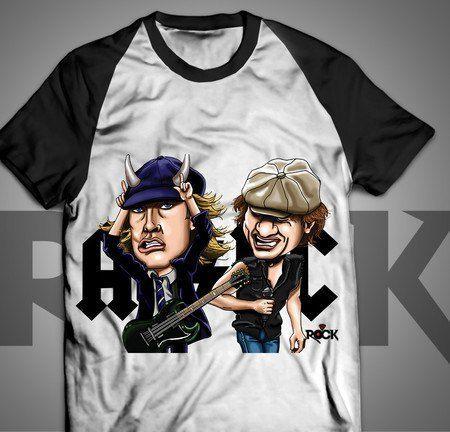 Camiseta Exclusiva Mitos do Rock AC/DC