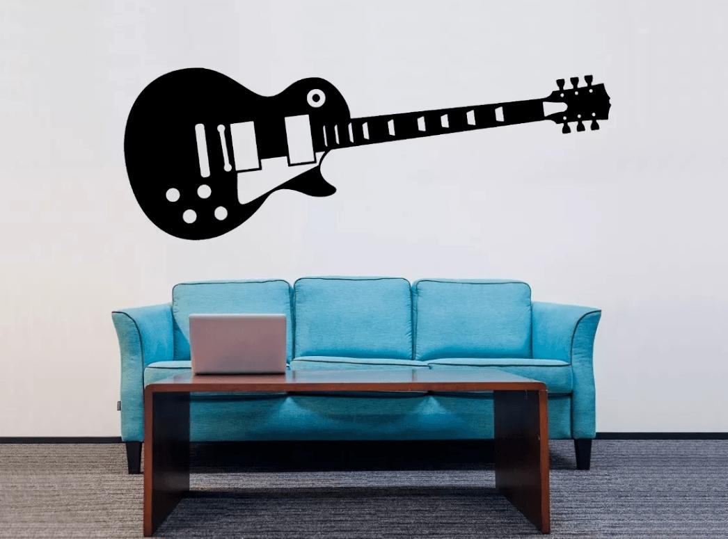 Adesivo De Parede - Guitarra Les Paul