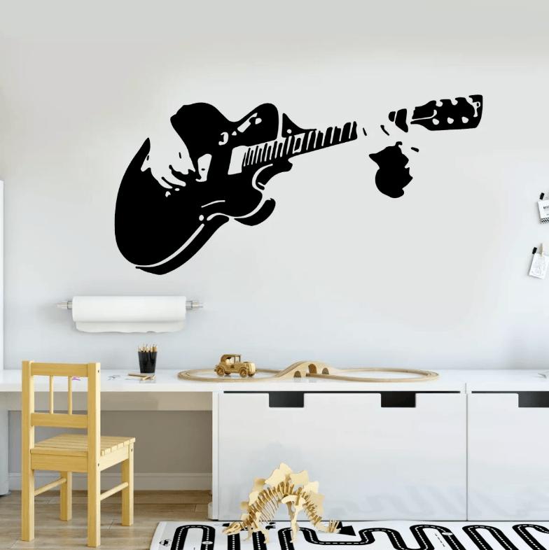 Adesivo De Parede - Guitarrista