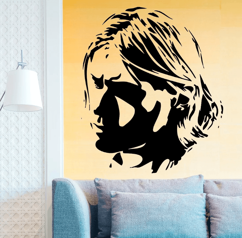 Adesivo De Parede - Kurt Cobain