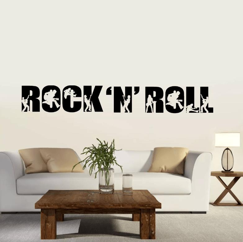 Adesivo De Parede - Rock And Roll