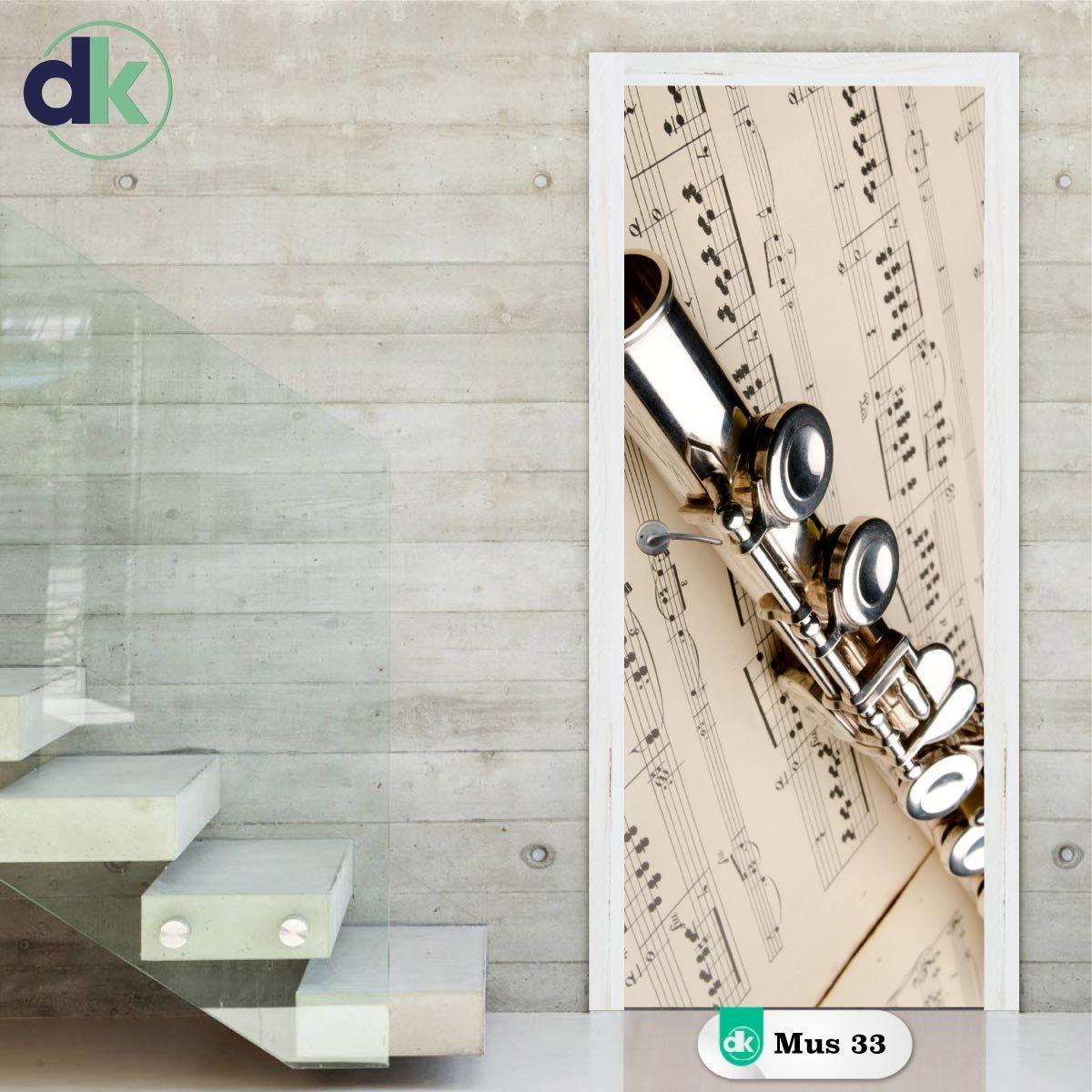 Adesivo de Porta - Flauta