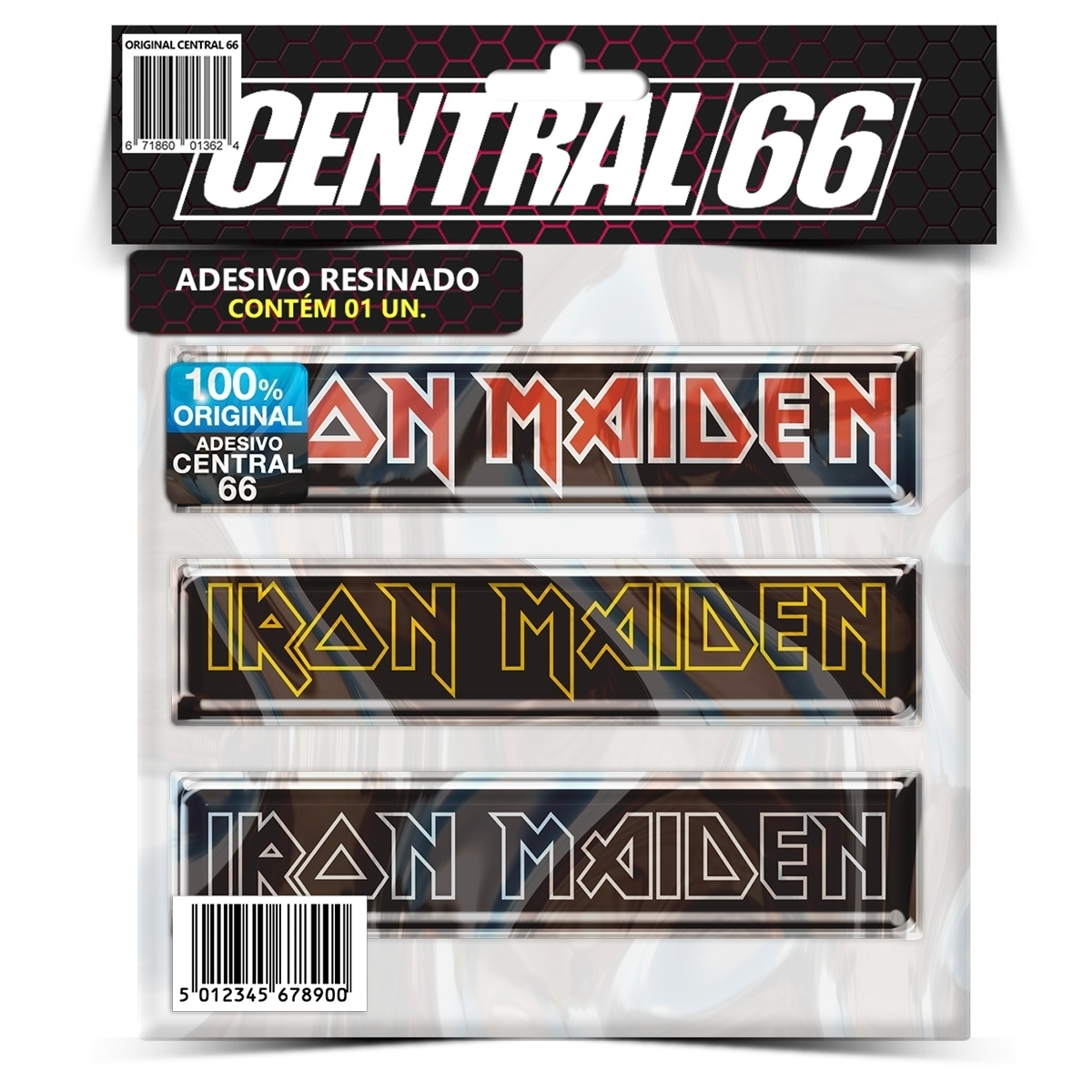 Adesivo Iron Maiden Logos – Central 66