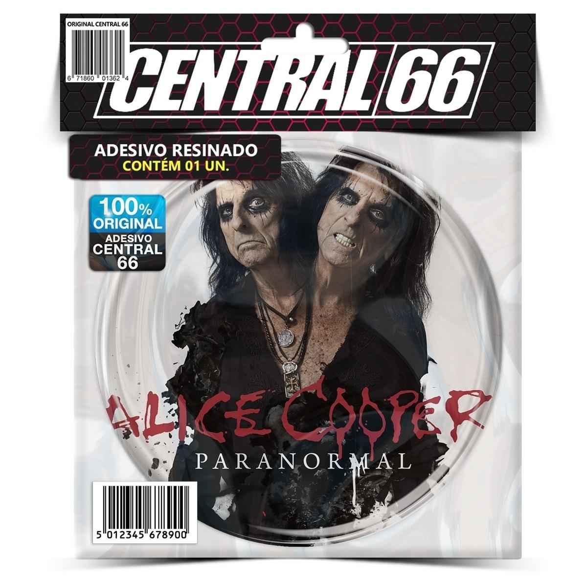 Adesivo Redondo Alice Cooper Paranormal – Central 66