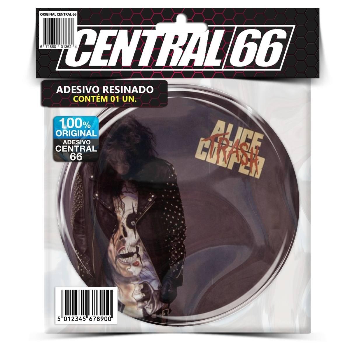 Adesivo Redondo Alice Cooper Trash – Central 66
