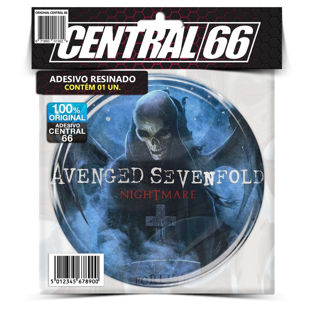 Adesivo Redondo Avenged Sevenfold Nightmare – Central 66