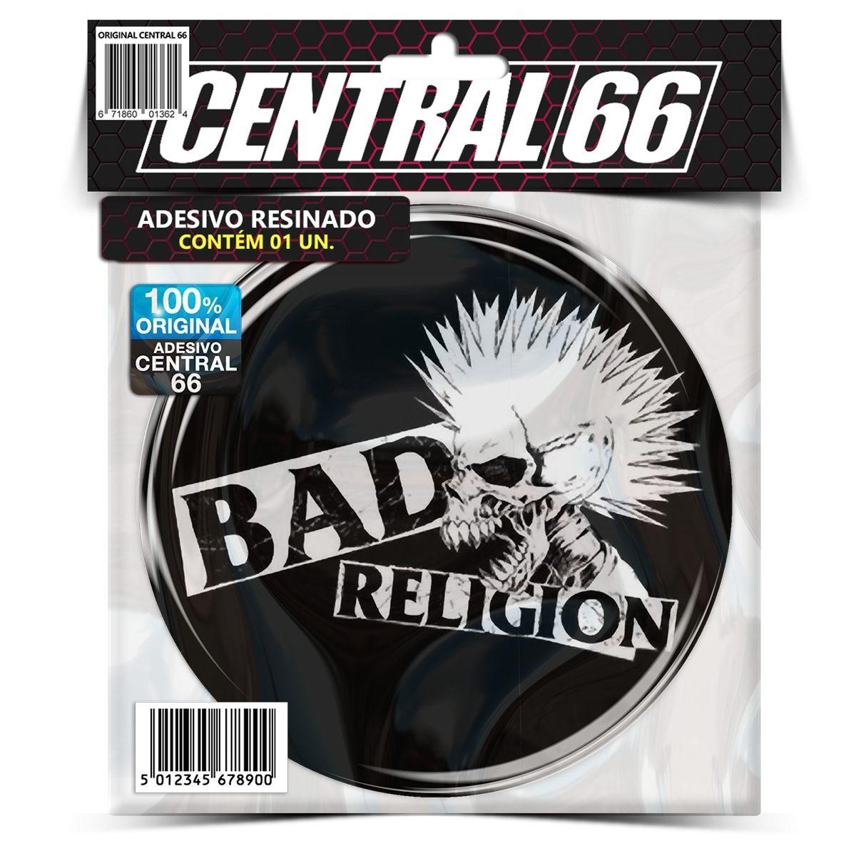 Adesivo Redondo Bad Religion Caveira – Central 66