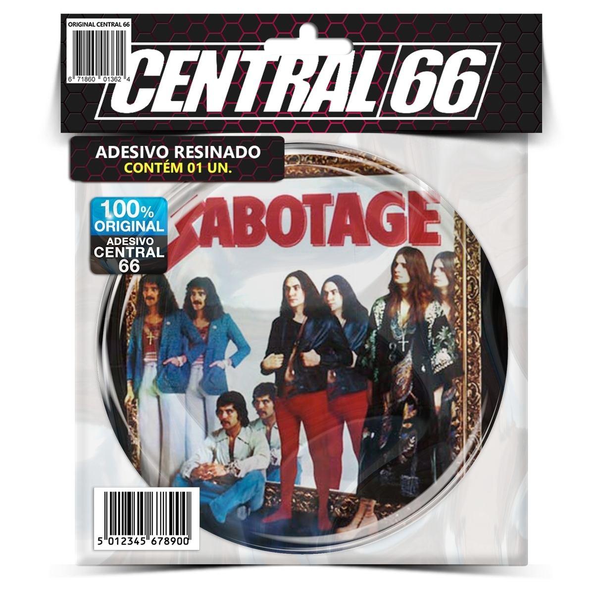 Adesivo Redondo Black Sabbath Sabotage – Central 66