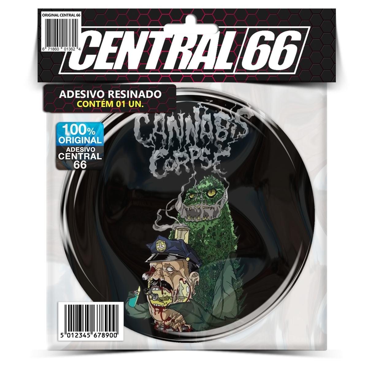 Adesivo Redondo Cannabis Corpse M05 – Central 66