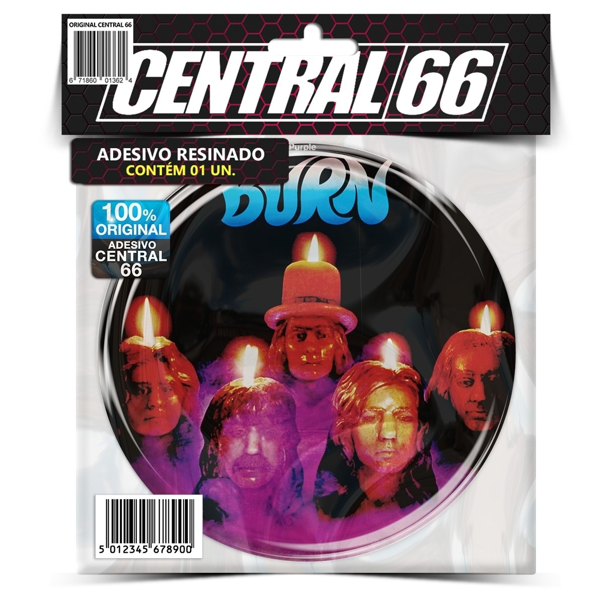 Adesivo Redondo Deep Purple Burn – Central 66