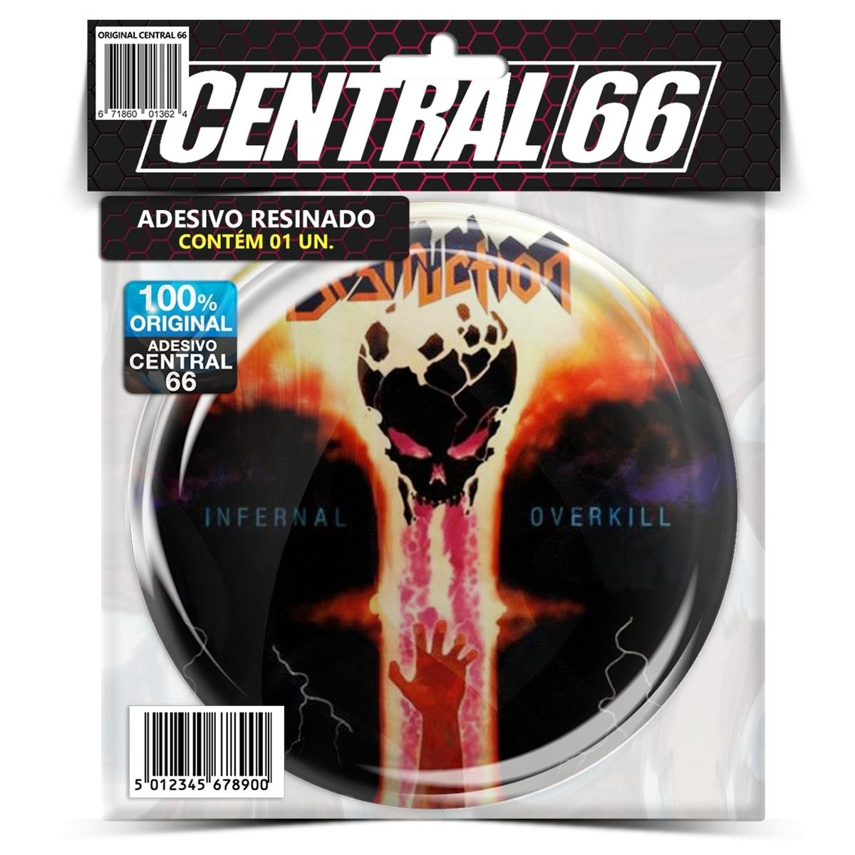 Adesivo Redondo Destruction Infernal Overkill – Central 66