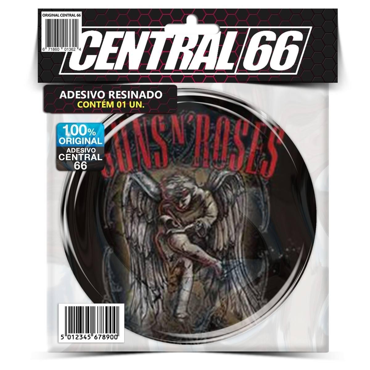 Adesivo Redondo Guns 'N Roses Anjo – Central 66