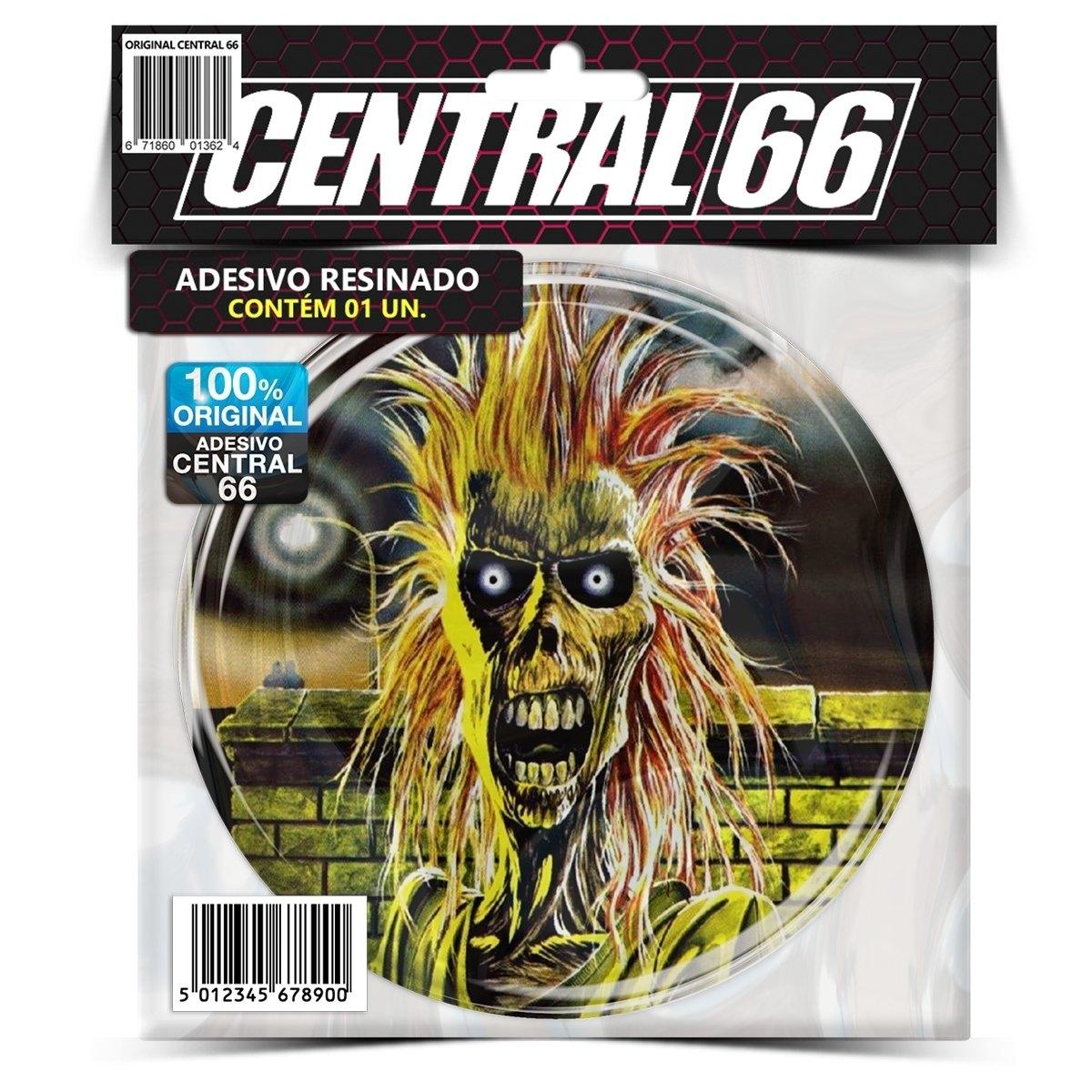 Adesivo Redondo Iron Maiden Capa – Central 66