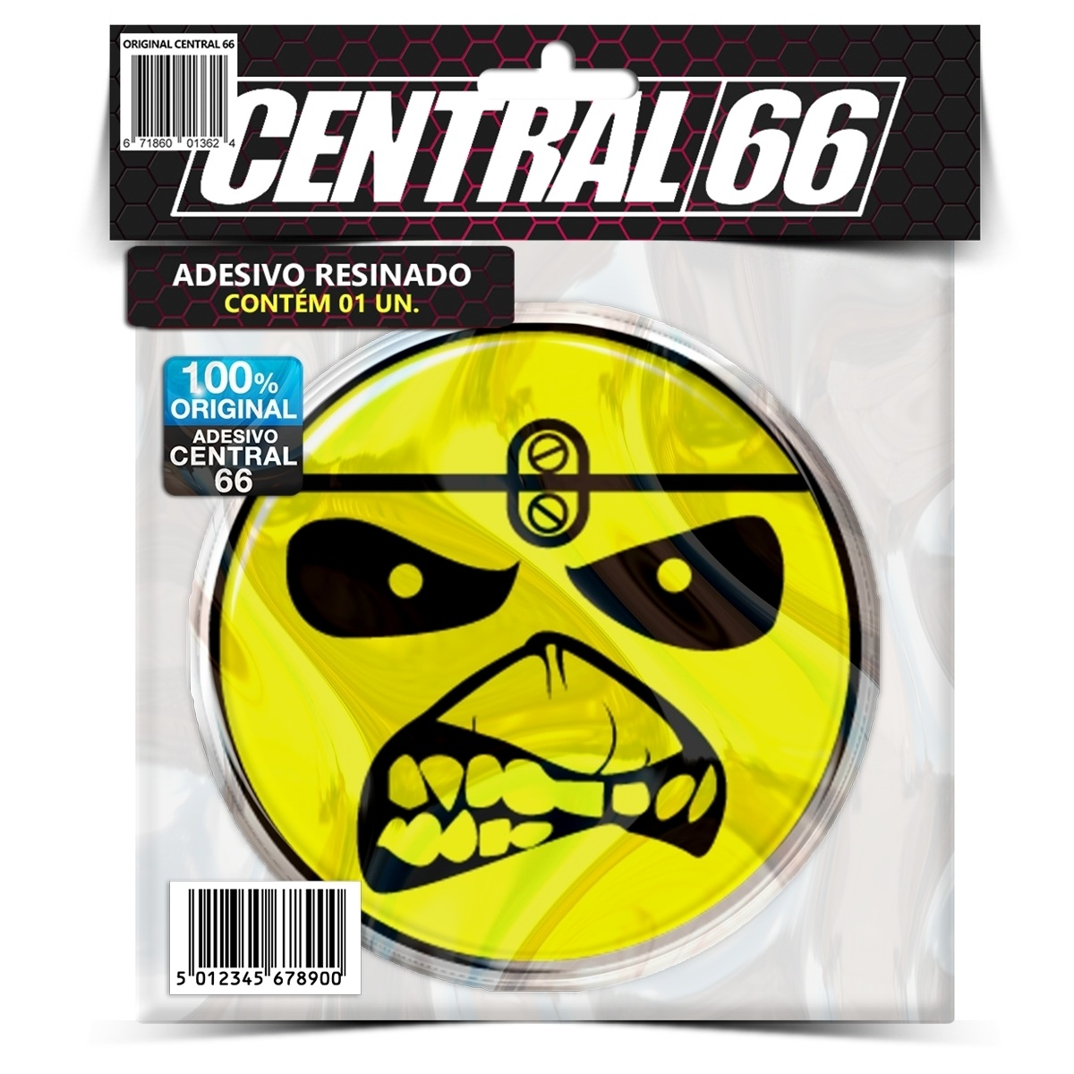 Adesivo Redondo Iron Maiden Eddie – Central 66