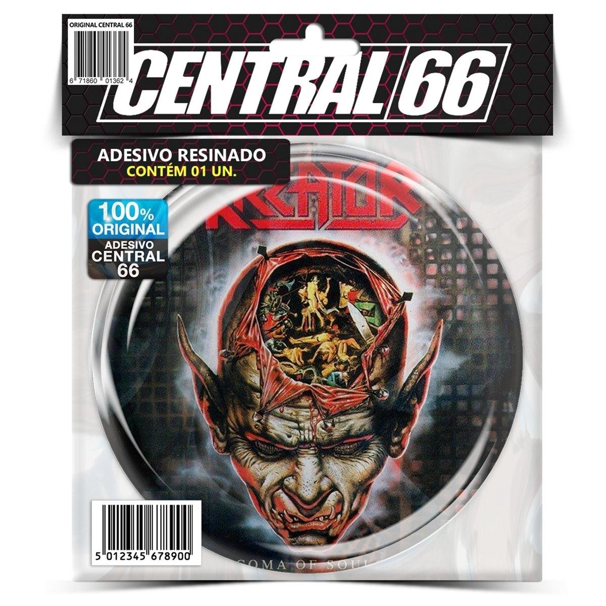 Adesivo Redondo Kreator Coma of Souls – Central 66