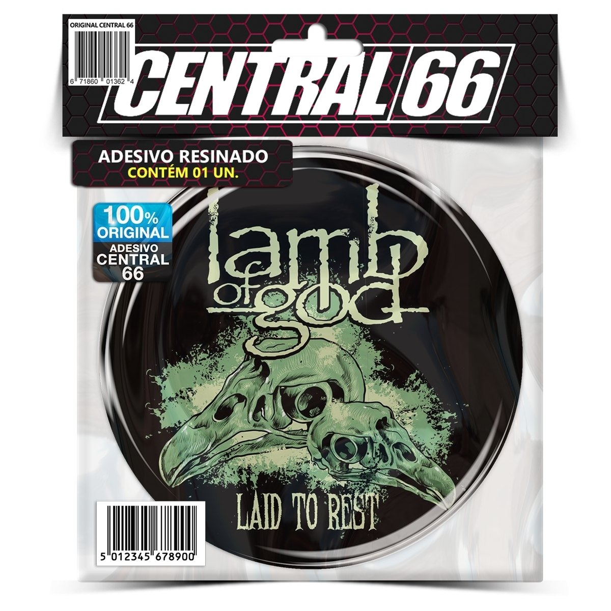 Adesivo Redondo Lamb of God Laid To Rest – Central 66