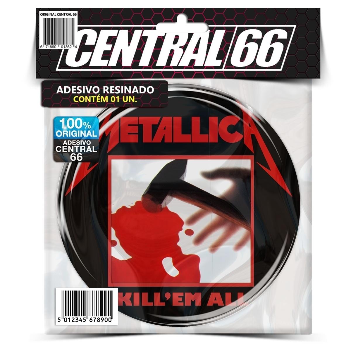Adesivo Redondo Metallica Kill 'Em All M02 – Central 66