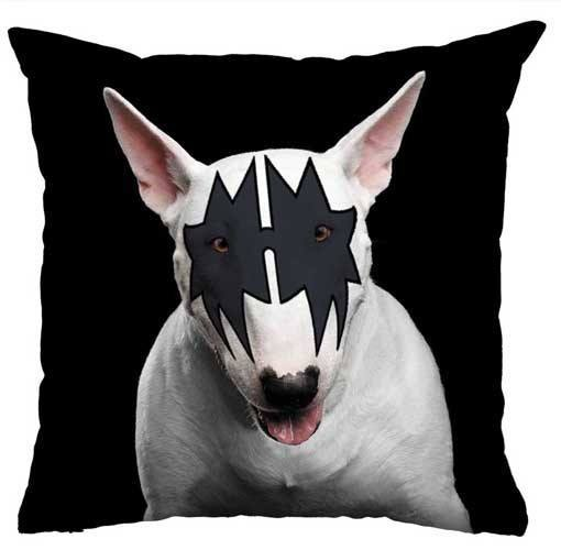 Almofada Rock Use - Bull Terrier Kiss