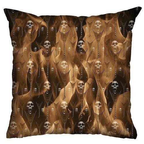 Almofada Rock Use - Fire Skull (Sépia)