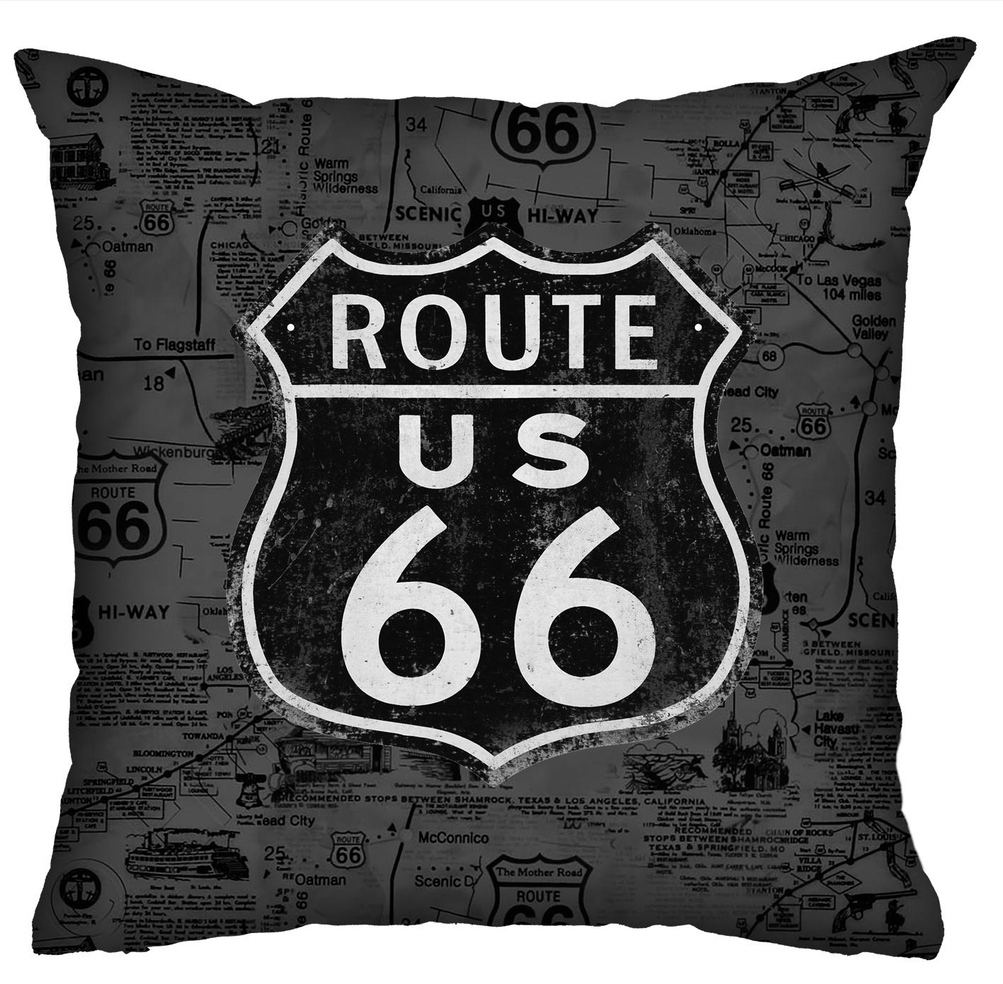 Almofada Rock Use - Route 66 (Cinza)
