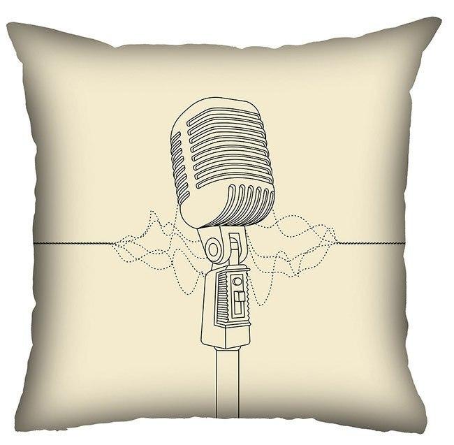 Almofada Rock Use - Solta a Voz (Bege)