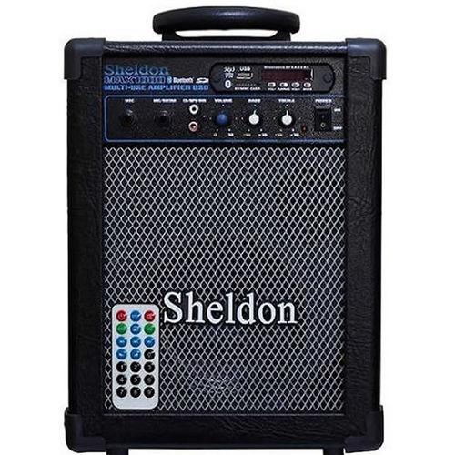Amplificador Multi-Uso para Guitarra Sheldon MAX 1000 15W RMS com Bluetooth